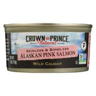 Crown Prince Skinless and Boneless Alaskan Pink Salmon - Case of 12 - 6 oz.