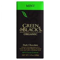 Green and Black's Organic Chocolate Bars - Dark Chocolate - 60 Percent Cacao - Mint - 3.5 oz Bars - Case of 10