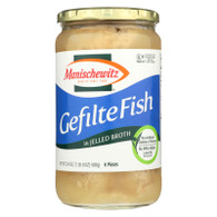 Manischewitz Gelfite Fish in Jelled Broth - Case of 12 - 24 oz.