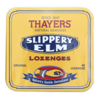 Thayers Slippery Elm Lozenges Original - 42 Lozenges - Case of 10