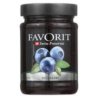 Favorit Preserves - Swiss - Blueberry - 12.3 oz - case of 6