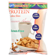 Kay's Naturals Protein Cookie Bites - Cinnamon - Case of 6 - 1.2 oz