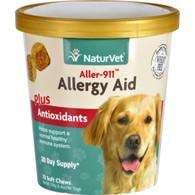 NaturVet Allergy Aid - Plus Antioxidants - Aller-911 - Dogs - Cup - 70 Soft Chews
