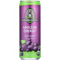 Sambazon Energy Drink - Amazon Energy - Acai Berry - 12 oz - case of 24