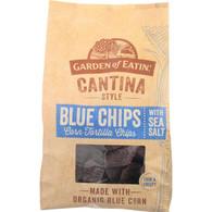 Garden Of Eatin Tortilla Chips - Organic - Cantina Style - Blue Corn - with Sea Salt - 13 oz - case of 10