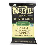 Kettle Brand Potato Chips - Organic - Salt and Fresh Ground Pepper - 5 oz - case of 15