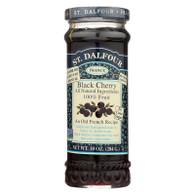 St Dalfour Fruit Spread - Deluxe - 100 Percent Fruit - Black Cherry - 10 oz - Case of 6