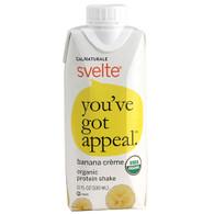 Svelte Protein Shake - Organic - Banana Creme - 11 fl oz - Case of 8