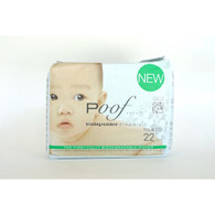 Poof Bio Disposable Diapers - Chlorine Free - Antibacterial - Size 4 - Taupe Chinoiserie - Case of 4 - 22 CT