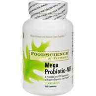 FoodScience of Vermont Mega Probiotic-ND - 120 Vegetarian Capsules