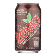 Zevia Soda - Zero Calorie - Ginger Root Beer - Can - 6/12 oz - case of 4