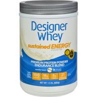 Designer Whey Protein Powder - Sustained Energy - Vanilla Bean - 1.5 lb
