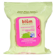 Blum Naturals Daily Cleansing and Makeup Remover Towelettes Pro Age - 30 Towelettes - Case of 3
