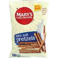 Marys Gone Crackers Pretzels - Organic - Sea Salt - 7.5 oz - case of 12