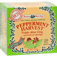 Breezy Morning Teas Peppermint Harvest Caffeine Free Triple Mint Zing - 20 Bags
