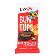 SunCup Sunflower Butter Cups - Dark Chocolate - 1.5 oz - Case of 12