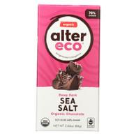 Alter Eco Americas Organic Chocolate Bar - Deep Dark Sea Salt - 2.82 oz Bars - Case of 12