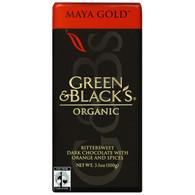 Green and Black's Organic Chocolate Bars - Dark Chocolate - 60 Percent Cacao - Maya Gold - 3.5 oz Bars - Case of 10
