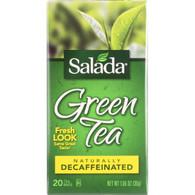 Salada Tea Tea - Green - Pure - Decaf - 20 count - case of 6