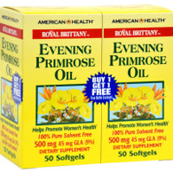 American Health Royal Brittany Evening Primrose Oil Twin Pack - 500 mg - 50+50 Softgels