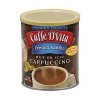 Caffe D'Vita Cappuccino - French Vanilla - Case of 6 - 16 oz.