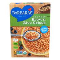 Barbara's Bakery Brown Rice Crisps - Fruit Juice Sweetened Cereal - Case of 6 - 10 oz.