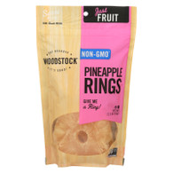 Woodstock Fruit - All Natural - Pineapple - Rings - Low Sugar - Unsulphured - 11.5 oz - case of 8