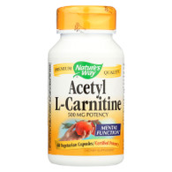 Nature's Way Acetyl L-Carnitine - 500 mg - 60 Vegetarian Capsules