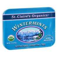 St Claire's Organic Wintermints Display Case - Case of 6 - 1.5 oz