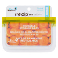 Blue Avocado Bag - Re-Zip - Snack - Green - 2 Count