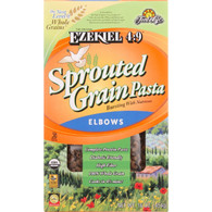 Food For Life Baking Co. Pasta - Organic - Ezekiel 4-9 - Sprouted Whole Grain - Elbows - 16 oz - case of 6