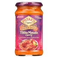 Pataks Simmer Sauce - Tikka Masala Curry - Medium - 15 oz - case of 6
