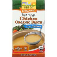 Field Day Broth - Organic - Chicken - Low Sodium - 32 oz - case of 12