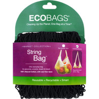 ECOBAGS Market Collection String Bags Long Handle - Black - 1 Bag
