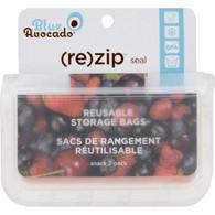 Blue Avocado (Re) Zip Seal Snack Bag - Translucent