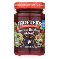 Crofters Fruit Spread - Organic - Premium - Raspberry - 16.5 oz - case of 6