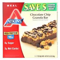 Atkins Advantage Bar Chocolate Chip Granola - 5 Bars