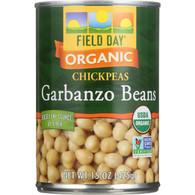 Field Day Beans - Organic - Garbanzo - 15 oz - case of 12