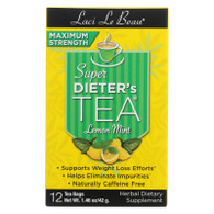 Laci Le Beau Maximum Strength Super Dieter's Tea Lemon Mint - 12 Tea Bags