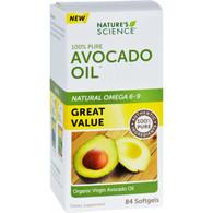 Natures Science Avocado Oil - 100 Percent Pure - 84 Softgels