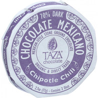 Taza Chocolate Organic Chocolate Mexicano Discs - 70 Percent Dark Chocolate - Chipotle Chili - 2.7 oz - Case of 12