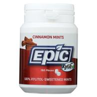 Epic Dental Mints - Cinnamon Xylitol Bottle - 180 ct