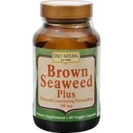 Only Natural Brown Seaweed Plus - 700 mg - 60 Vegetarian Capsules