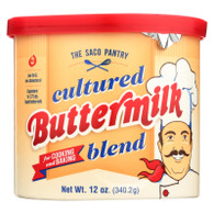 Saco Foods Buttermilk Powder Blend - Cultured - 12 oz - case of 12