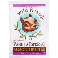 Wild Friends Almond Butter - Vanilla Espresso - Single Serve Packets - 1.15 oz - case of 10