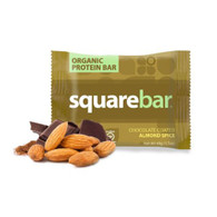 Squarebar Organic Protein Bar - Chocolate Coated Almond Spice - 1.7 oz - Case of 12