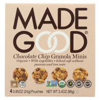 Made Good Granola Minis - Chocolate Chip - Case of 6 - 3.4 oz.