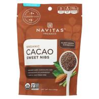 Navitas Naturals Cacao Nibs - Organic - Sweet - Raw - 4 oz - case of 12