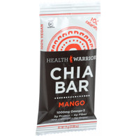 Health Warrior Chia Bar - Mango - .88 oz Bars - Case of 15