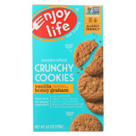 Enjoy Life Cookie - Crunchy - Vanilla Honey Graham - Gluten Free - 6.3 oz - case of 6